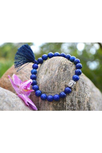 Energetický náramek lapis lazuli se střapečkem a Buddhou