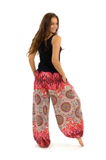 Kalhoty Nishal - červené
