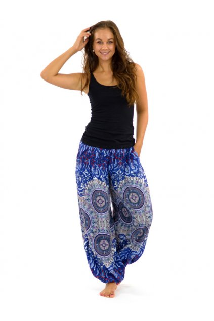 Kalhoty Nishal - modré