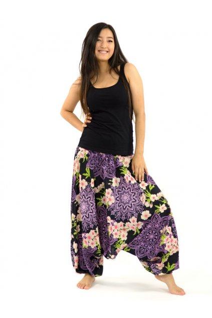 Kalhoty-šaty-top 3v1 - Sakura - černá s růžovou