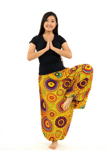 Kalhoty-šaty-top 3v1 Dot - žluté