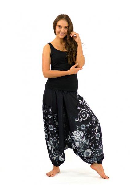 Kalhoty-šaty-top 3v1 Garden of Nepal - černo bílé