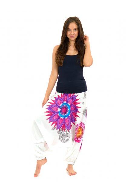 Kalhoty-šaty-top 3v1 Mandala of Nepal - bílé
