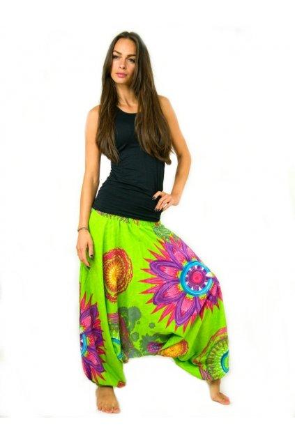 Kalhoty-šaty-top 3v1 Mandala of Nepal - limetkové