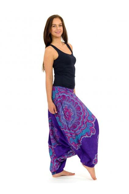 Kalhoty-šaty-top 3v1 Mandala SUN - fialové
