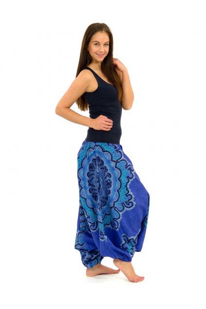 Kalhoty-šaty-top 3v1 Mandala SUN - modré