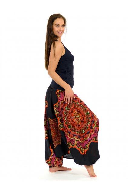 Kalhoty-šaty-top 3v1 Mandala SUN - oranžové