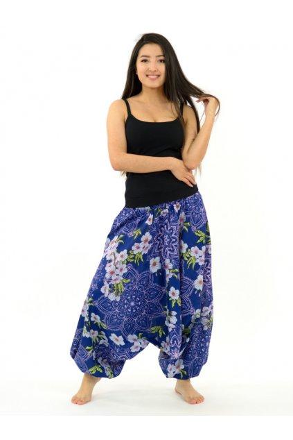 Kalhoty-šaty-top 3v1 Sakura Mandala - modro-růžové
