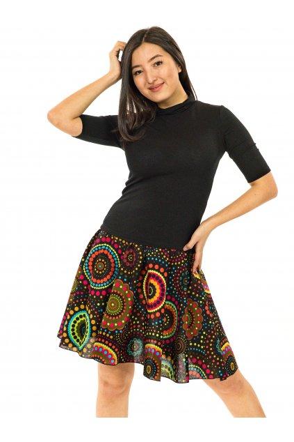 Kolová sukně Dot - černá