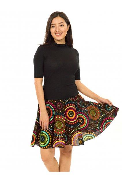 Kolová sukně Dot - žlutá