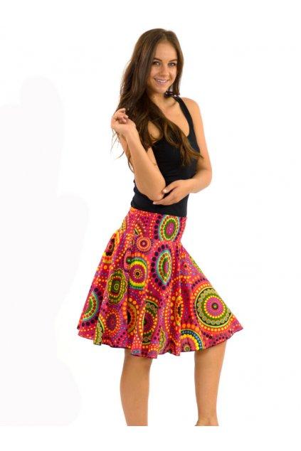 Kolová sukně Dot - růžová