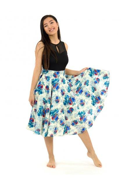 Kolová sukně z pravého přírodního hedvábí Luna