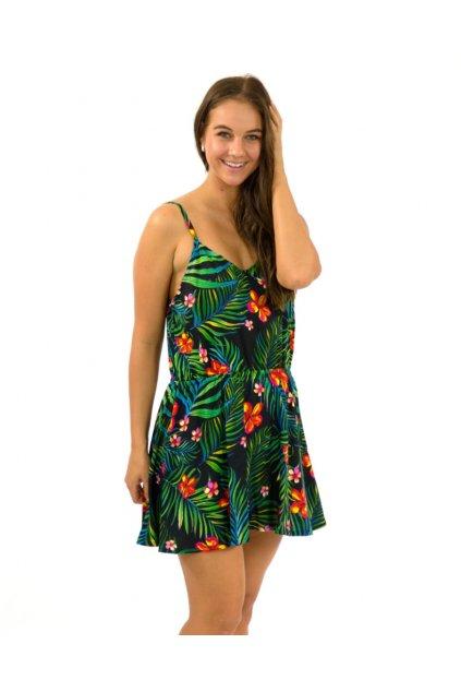 Letní šaty / tílko Listy s květy