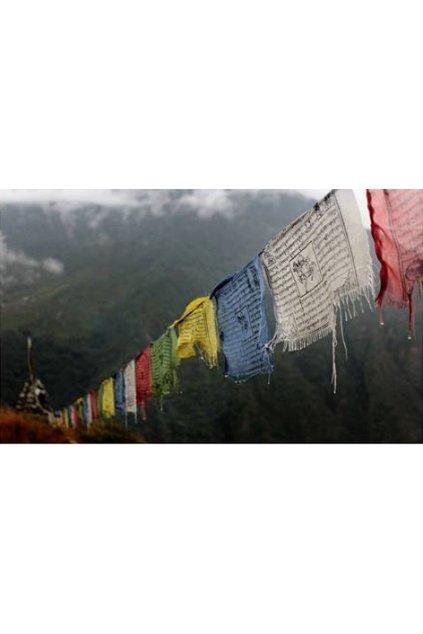 Lungta - tibetské modlitební praporky střední