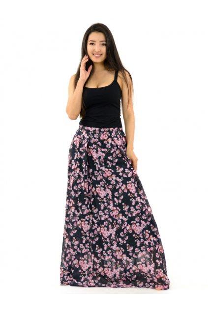 Luxusní maxi sukně Sakura s kapsami