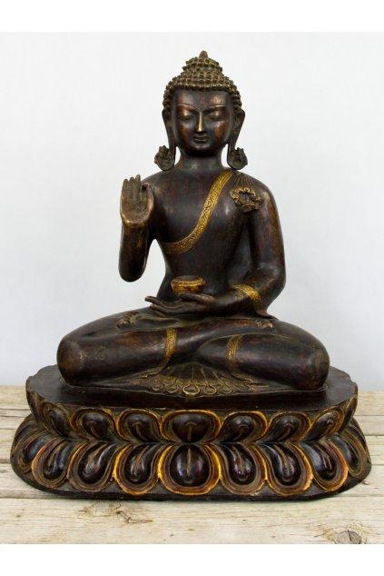 Masivní socha Buddha s gestem žehnání - velká