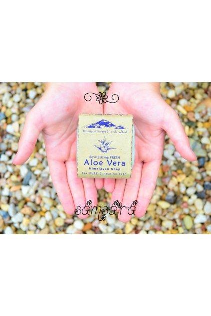 Ručně vyrobené mýdlo z Nepálu - Aloe Vera