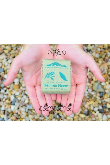 Ručně vyrobené mýdlo z Nepálu Tea Tree Neem
