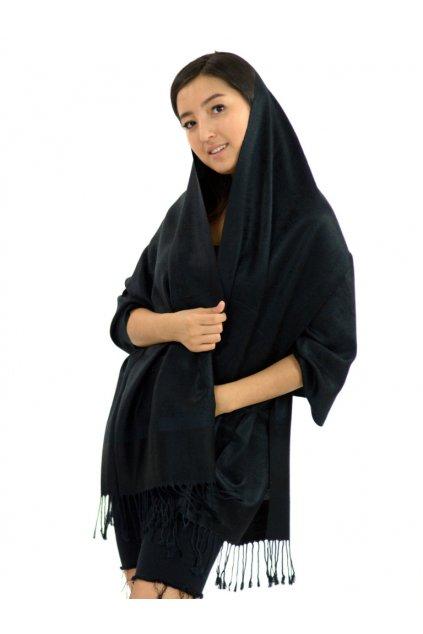 Šátek pašmína Nepal - černá