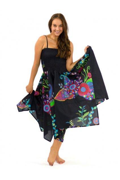 Šaty-sukně 2v1 Dawa - Garden černé