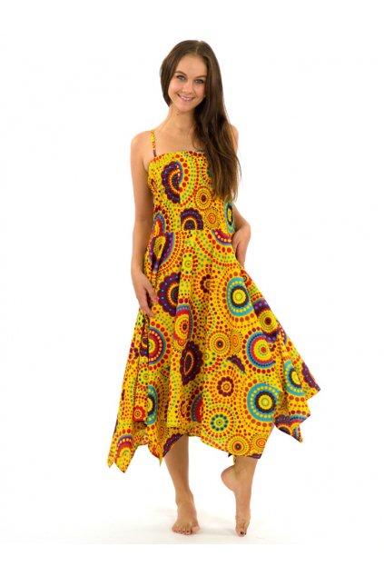 Šaty-sukně 2v1 Dawa Dot - žluté