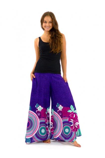 Široké kalhoty Fly - fialové