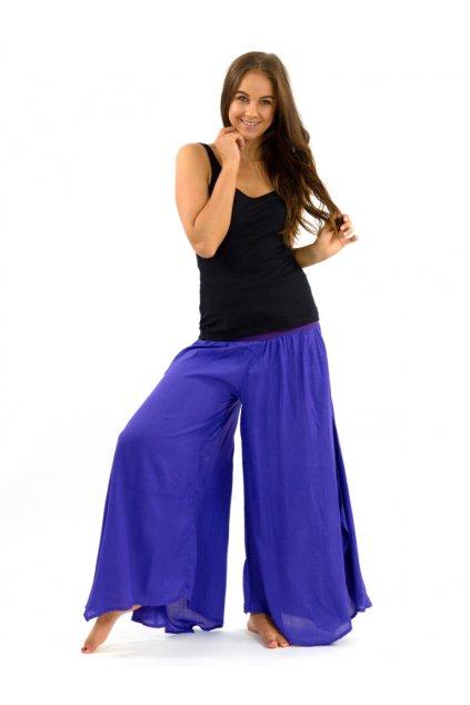 Široké kalhoty Plain - fialové