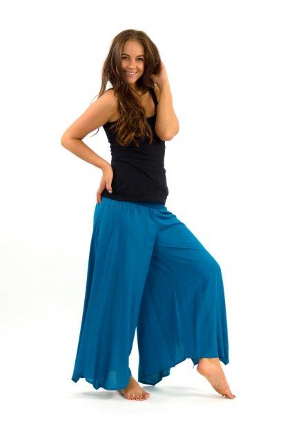 Široké kalhoty Plain - tyrkysové