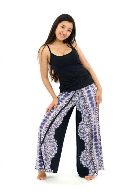 Zavinovací široké kalhoty Bhakti - fialové