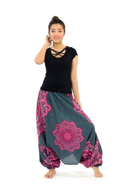 Kalhoty-šaty-top 3v1 Mandala SUN - růžové