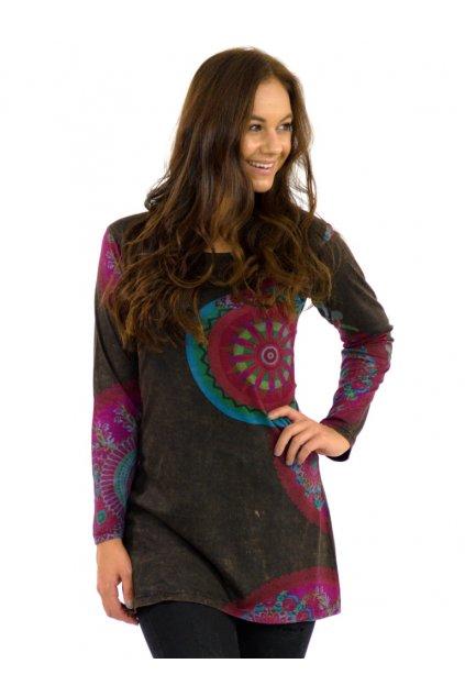 Tunika / šaty Lipa - hnědé