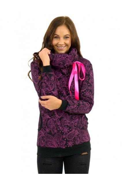Mikina s límcem Mauna - růžová