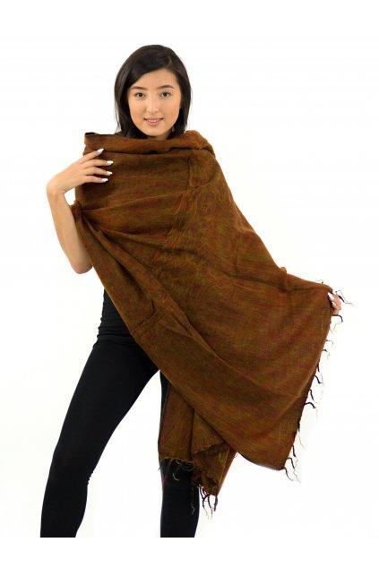 Deka/pléd Yak wool Nepal 29