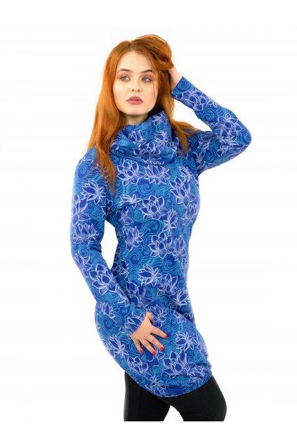 Šatomikina Lotos - modrá s bílou