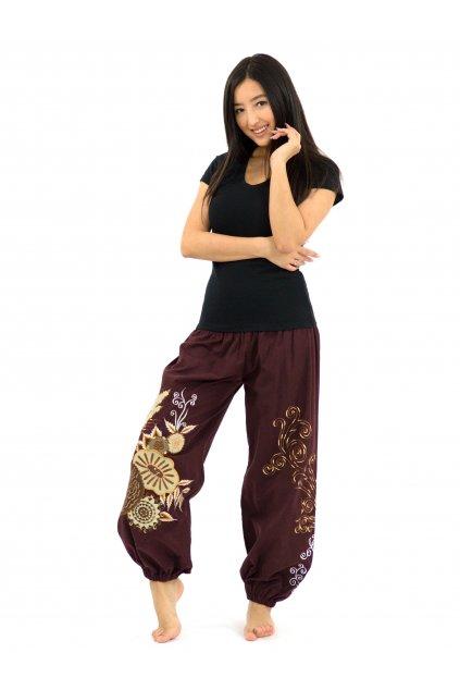 Teplejší kalhoty MITA - hnědé