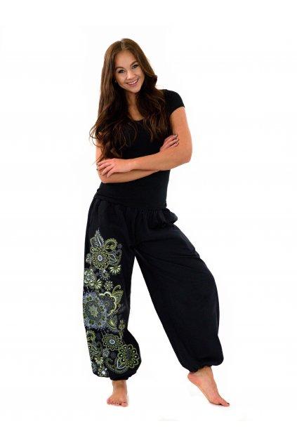 Kalhoty Hanauma - černá s limetkovou