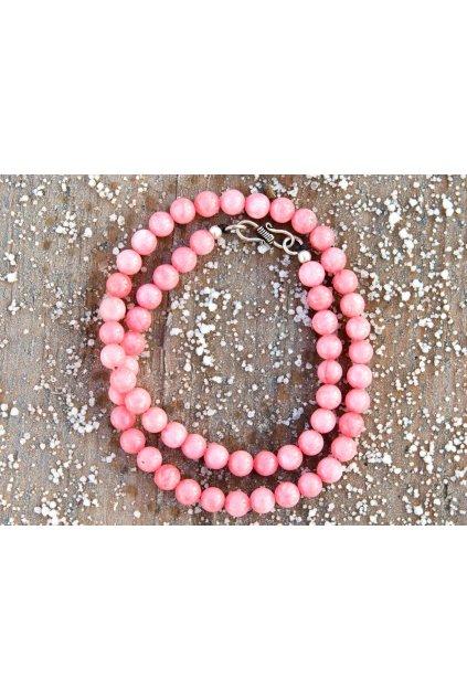 Energetický náhrdelník - jaspis růžový