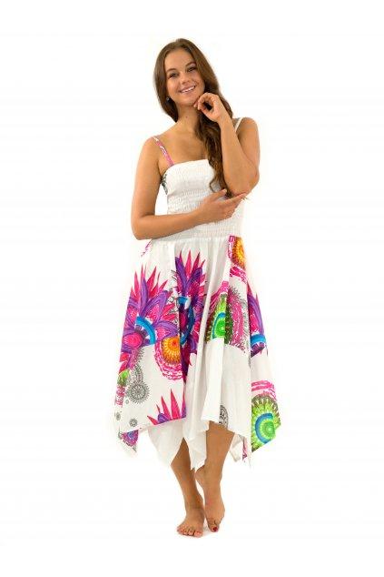 Šaty-sukně 2v1 Dawa Mandala - bílé
