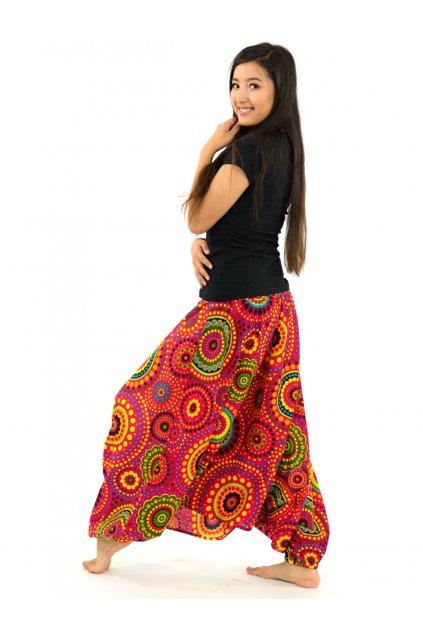 Kalhoty-šaty-top 3v1 Dot - růžové