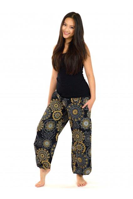 Kalhoty Kalea - černá s béžovou