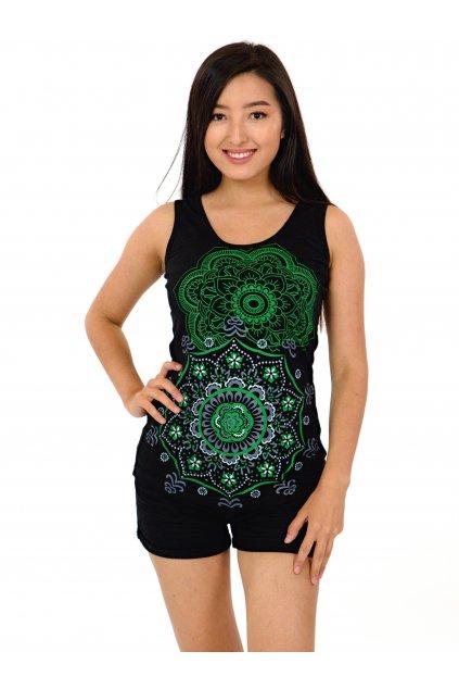 Tílko Haleiwa - černá se zelenou