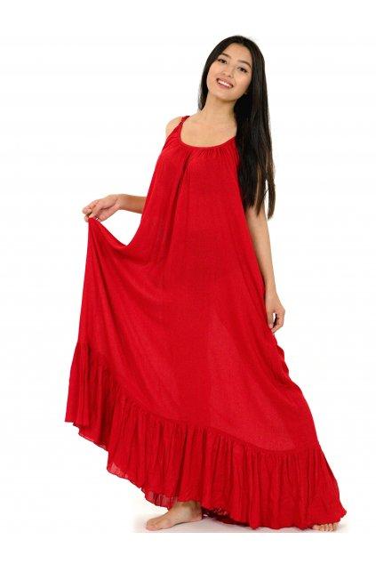 Vzdušné maxi šaty Mililani - červené