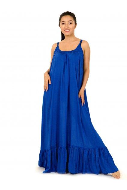 Vzdušné maxi šaty Mililani - modré