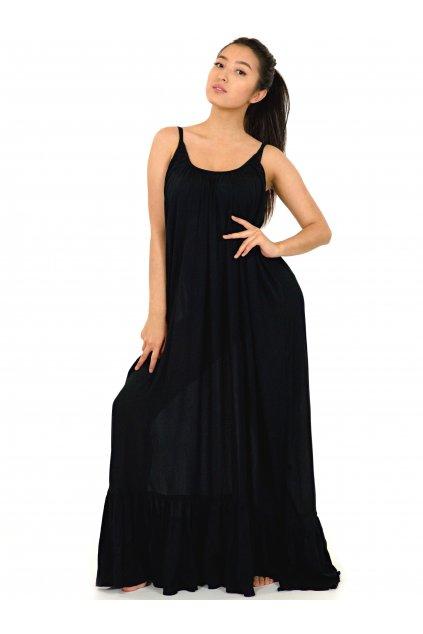 Vzdušné maxi šaty Mililani - černé