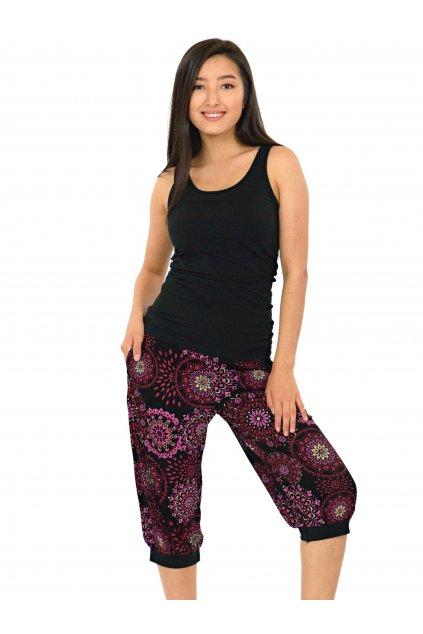 Kraťasy Maoli - černé s růžovou
