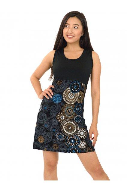 Šaty Maupiti- modrá s béžovou
