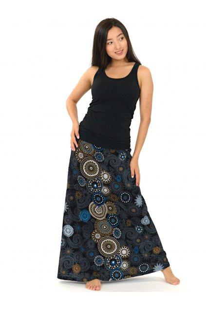 Dlouhá sukně Savai - béžová s modrou