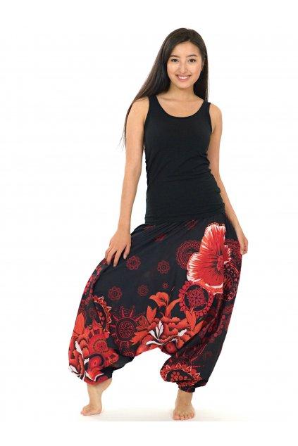 Kalhoty-šaty-top 3v1 Wailea - černé s červenou