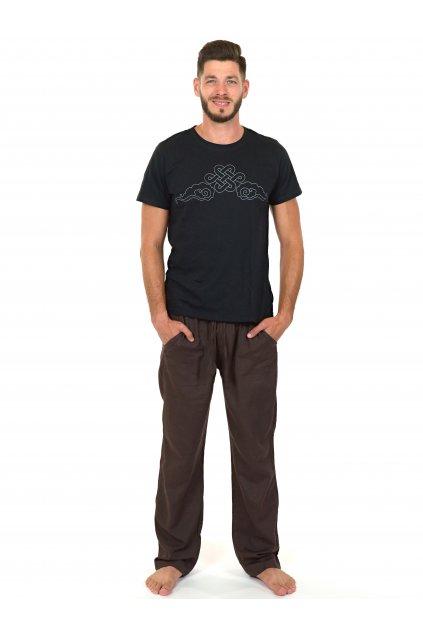 Kalhoty Keanu - hnědé