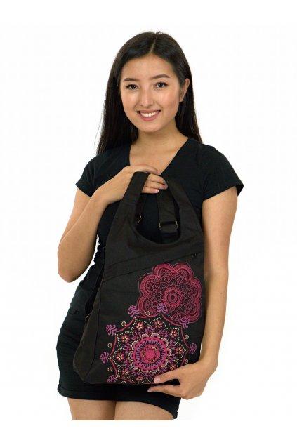Batoh Hanalei - černá s růžovou